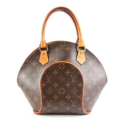 Louis Vuitton Ellipse PM in Monogram Coated Canvas and Vachetta Leather