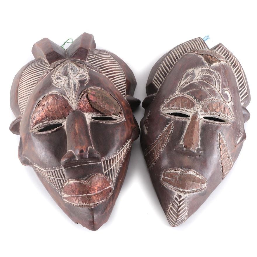 Tikar Style Handcrafted Masks, Cameroon