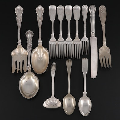 Gorham, Frank M. Whiting, and Other Sterling and Silver Plate Utensils
