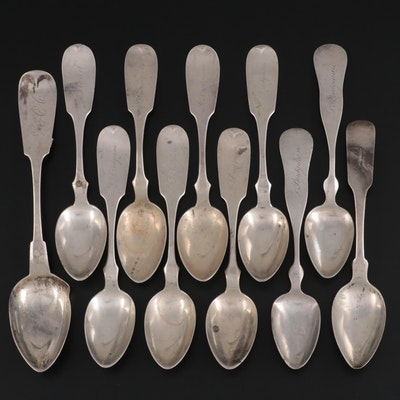 American Coin Silver Spoons, Mid to Late 19th Century