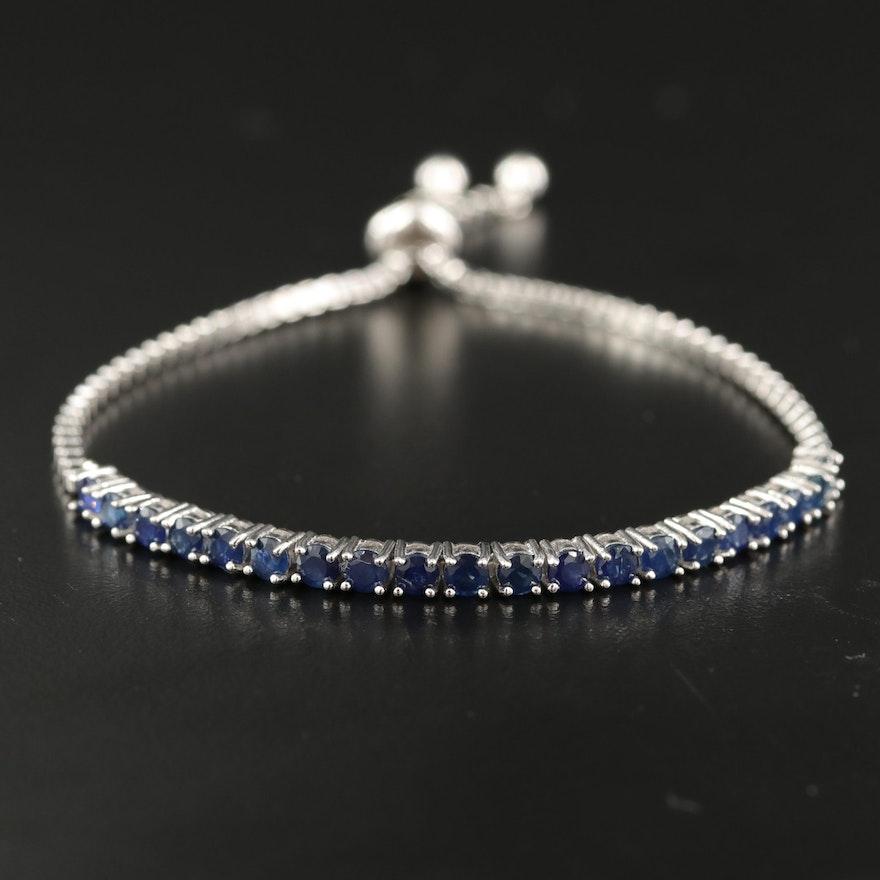 Sterling Sapphire Bolo Bracelet