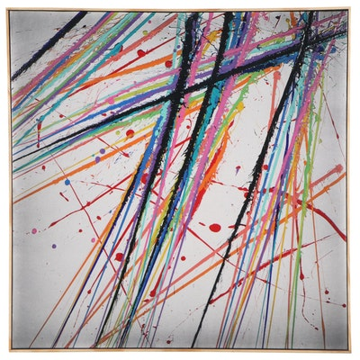 "Jason Michael Durham Abstract Mixed Media Painting ""Risky Action"""