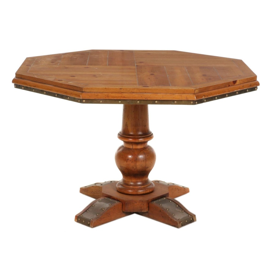 Octagonal Pine Games Table, Late 20th Century