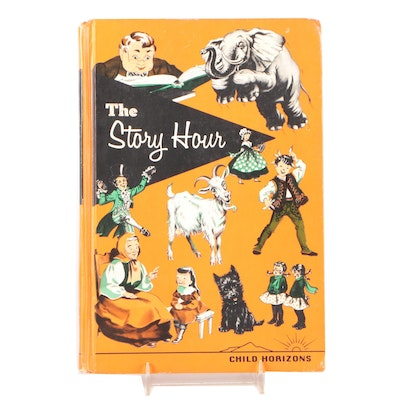 """Illustrated """"The Story Hour"""" Compiled by Esther M. Bjoland, 1964"""