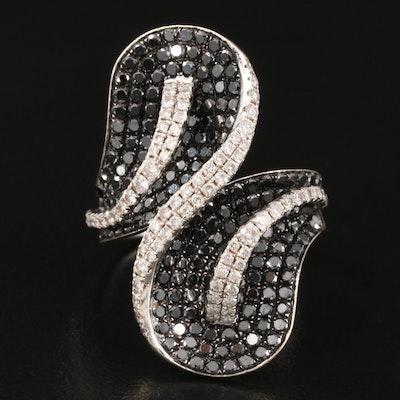 14K 3.01 CTW Diamond Bypass Ring