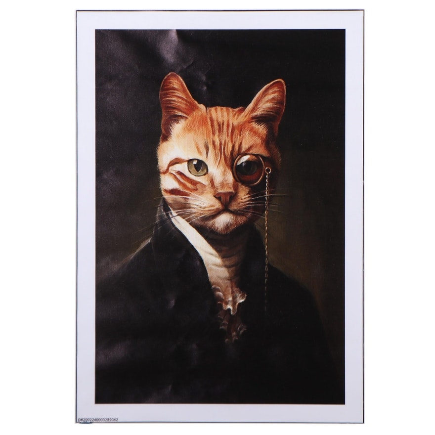 Giclée of an Anthropomorphic Cat, 21st Century