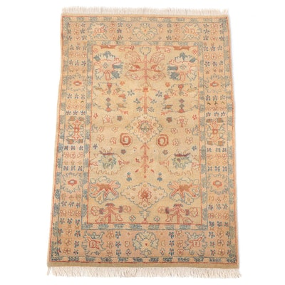 4' x 6'2 Hand-Knotted Indian Oushak Area Rug
