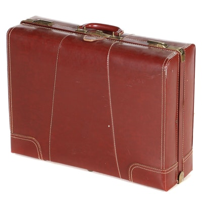 Twinsuiter Cognac Leather Wardrobe Case