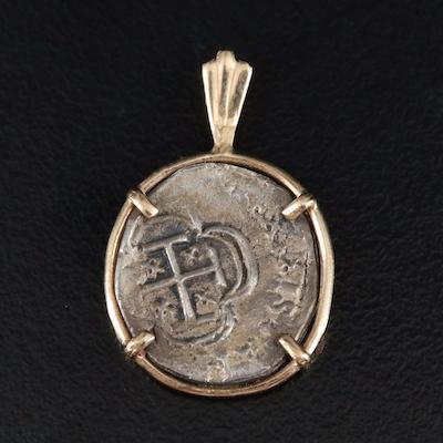 14K Spanish Reale Coin Pendant