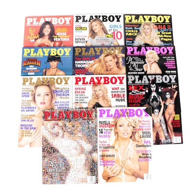 """""""Playboy"""" Magazines Featuring 45th Anniversary Issue and Others, 1999"""