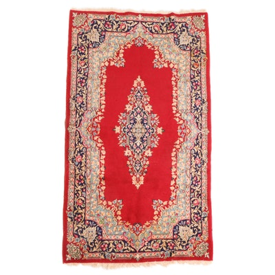 3'10 x 7' Hand-Knotted Persian Kerman Area Rug