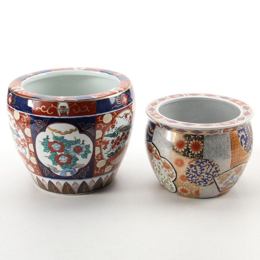 Japanese and Chinese  Imari Style Ceramic Planters