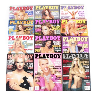 """""""Playboy"""" Magazine Featuring Pamela Anderson, Anna Nicole Smith and Others, 2001"""