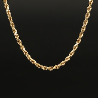 14K Braided Necklace