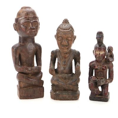 Kongo-Yombe Style Hand-Carved Wood Figures, Democratic Republic of the Congo
