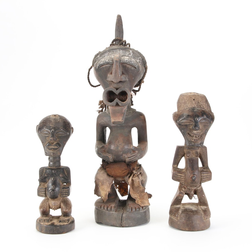 Songye Style Handcrafted Wood Figures, Central Africa