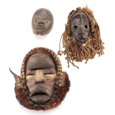 Dan and Guere Style Handcrafted Wood Mask, West Africa