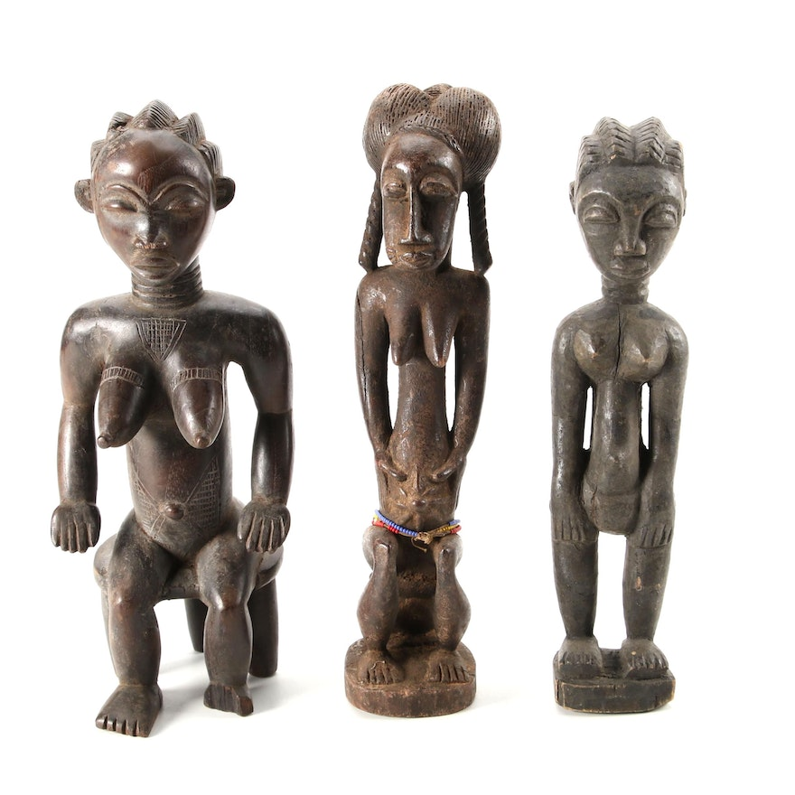 Baule Style and Other West African Handcrafted Wood Figures
