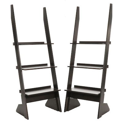 Pair of American Signature Leaning Bookcases