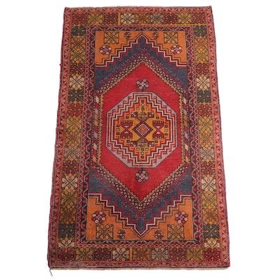 4' x 6'4 Hand-Knotted Turkish Village Area Rug