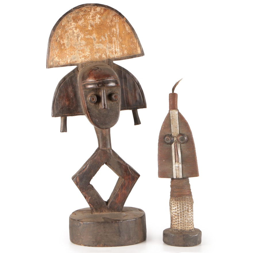 Kota-Mahongwe Inspired Wood Figurines, Central Africa