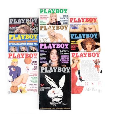 """Playboy"" Magazines Featuring LaToya Jackson, Kimberly Conrad and Others, 1989"