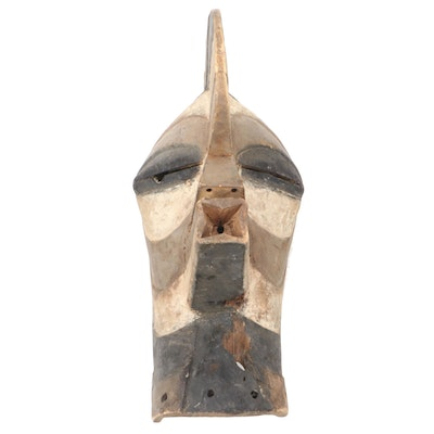 """Songye """"Kifwebe"""" Style Hand-Carved Wood Mask, Central Africa"""