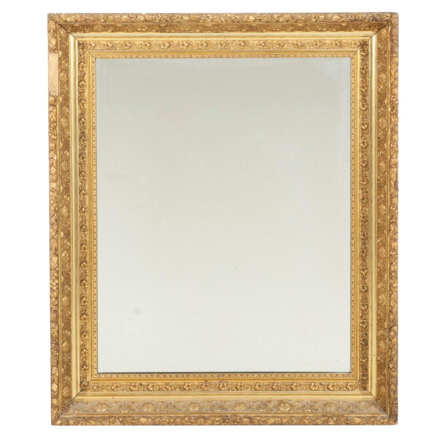Gold Framed Wall Mirror, Mid to Late 20th Century