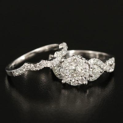 14K 1.80 CTW Diamond Ring Set