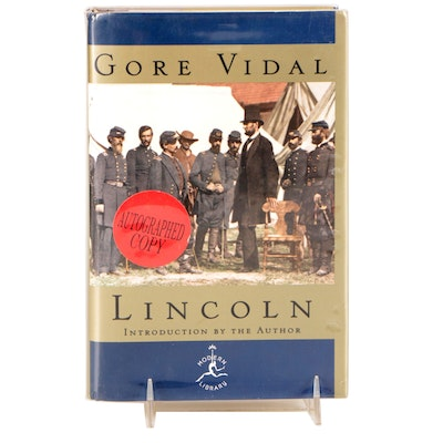 """Signed First Edition """"Lincoln"""" by Gore Vidal, 1998"""