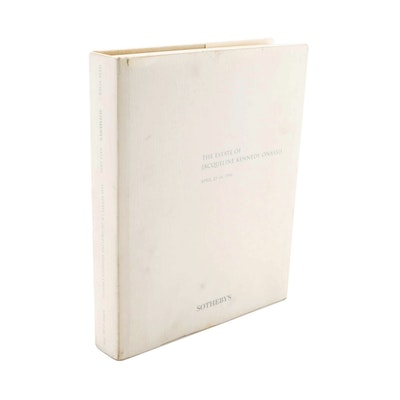 """""""The Estate of Jacqueline Kennedy Onassis"""" Sotheby's Auction Book, 1996"""