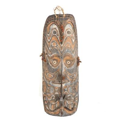 Iatmul Style Large-Scale Carved Wood Mask, Sepik River, Papua New Guinea