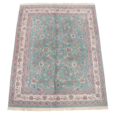 8' x 10'7 Hand-Knotted Indian Kashan Area Rug