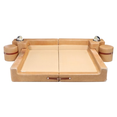 Guido Faleschini for Mariani/Pace King Leather Bed
