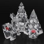 "Baccarat Crystal ""Christmas Tree"", ""Mountain Tree"" and ""Reindeer"" Figurines"