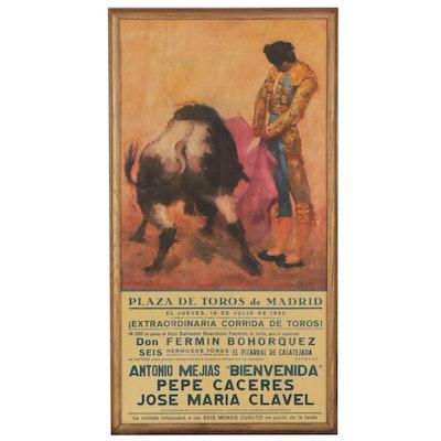 Offset Lithograph Matador Poster After Carlos Ruano Llopis, Circa 1963