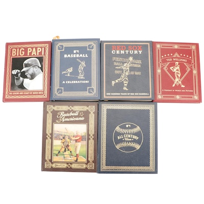 """Easton Press """"Red Sox Century"""" and More Baseball History Books"""