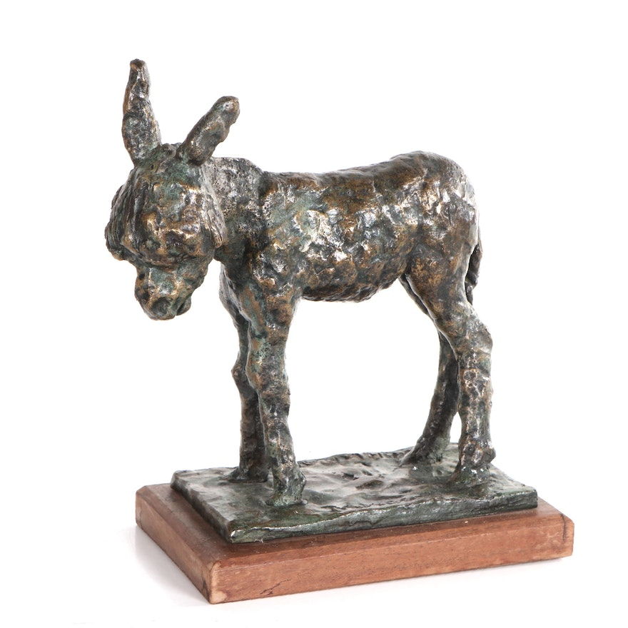 """Carl Pappe Bronze Sculpture """"Taxco,"""" Late 20th Century"""