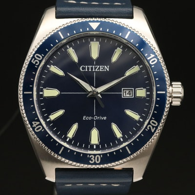 "Citizen Eco-Drive ""Brycen"" Stainless Steel Wristwatch"