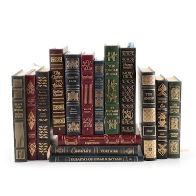 """Easton Press """"Moby Dick,"""" """"Vanity Fair,"""" """"Brave New World,"""" and More Classics"""