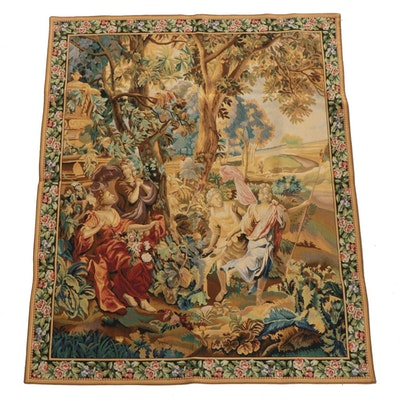 Baroque Style Machine Woven Tapestry