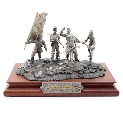 """Francis Barnum for Chilmark """"The Irish Brigade"""" Pewter Sculpture, 1998"""