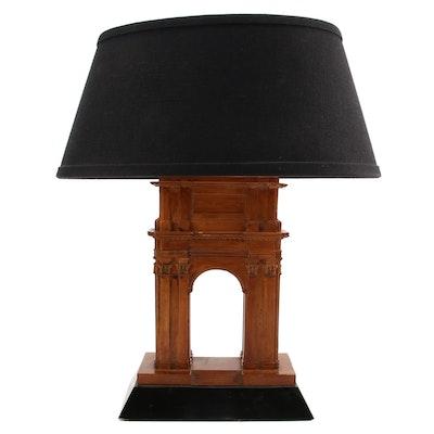 L'Arc de Triomphe Wood Table Lamp