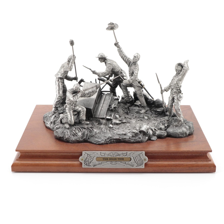 "Fran Barnum for Chilmark ""The High Tide"" Pewter Sculpture, 1993"