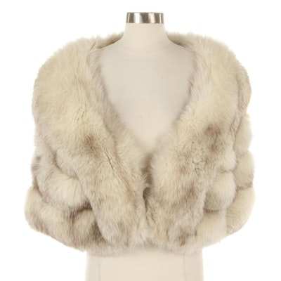 Blue Fox Fur Stole from Grannicks