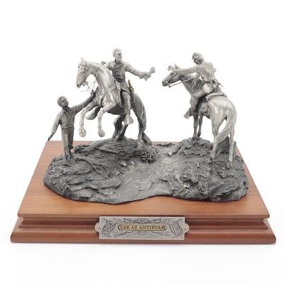 "Fran Barnum for Chilmark ""Lee at Antietam"" Signed Pewter Sculpture, 1987"