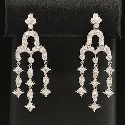 18K 1.28 CTW Diamond Chandelier Earrings