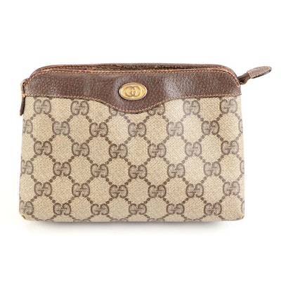 Gucci Accessory Collection Cosmetics Pouch in GG Coated Canvas