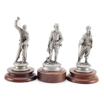 """F. Barnum for Chilmark """"Billy Yank"""", """"Zouave"""", and """"James Longstreet"""" Sculptures"""