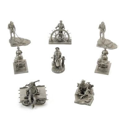 """Ron Hinote for Franklin Mint """"Frontier Americans"""" Pewter Figurines, 1977–1978"""